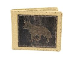 Wolf Canvas with Leather Patch Bifold Wallet