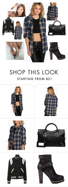 """""""Style Fashion"""" by dejaskye ❤ liked on Polyvore featuring Boohoo, Balenciaga, Yves Saint Laurent, Belstaff, women's clothing, women's fashion, women, female, woman and misses"""
