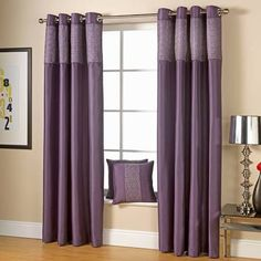 grey and purple curtain - Google Search