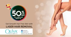 Are you still waiting for right time to get #laserhairremoval done?Now is the perfect time,enjoy the smoothness and also save flat 50% off on full body laser hair removal @OlivaClinic. Rush today to nearest Oliva Clinics, last 5 days lefts only for this fantastic offer.
