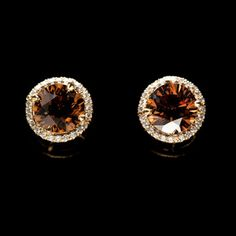 SHE FASHION CLUB: Chocolate Diamond Earrings