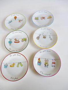 créations atelier 714 peinture porcelaine montpellier assiettes | Atelier714 peinture sur porcelaine
