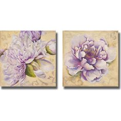 Patricia Pinto 'In Bloom I and II' 2-piece Canvas Art Set ($62) ❤ liked on Polyvore featuring home, home decor, wall art, flower stem, outdoor wall art, flower home decor, outside home decor and floral home decor