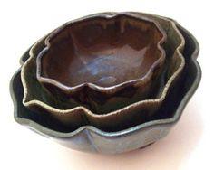 LaPella Art: nesting altered bowls pottery ceramics clay