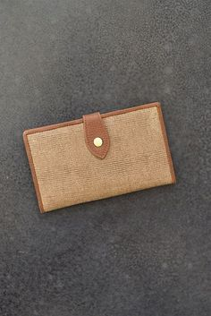 Cotton & Leather Wallet