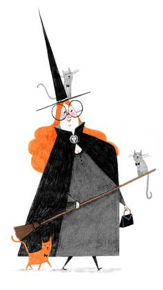 halloween illustration Alex T. Smith - Off Out For The Evening Happy Halloween! Halloween Illustration, Art And Illustration, Character Illustration, Retro Halloween, Fröhliches Halloween, Halloween Costumes, Halloween Poster, Costumes Kids, Halloween Drawings