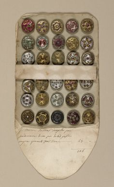 Sales Book Of Sample Buttons, late 18th century
