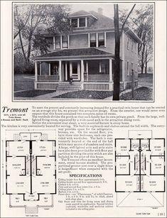 1922 Tremont Duplex - Bennett Homes of North Tonawanda, NY - Kit Houses