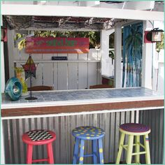 Calypso tiki bar - Would love to do something like this to the bar out by the pool!!!