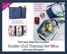 Thirty-One Gifts – Double Chill Thermal Set! #ThirtyOneGifts #ThirtyOne #Monogramming #Organization #May2018Special #LargeUtilityTote #LargeUtilityToteLTD #DoubleChillThermalSet