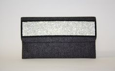 JESSICA by designer Sobayha Accesories from sobayha.com. Long flat clutch, in woven effect, with a crystal strip.Available in Turquoise, Black, Bronze & Gold. See more at: https://www.sobayha.com/catalogue/jessica_155/