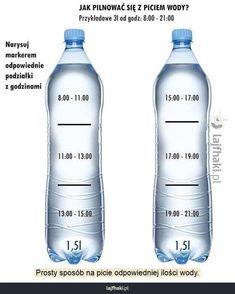 Trik na picie wody - Prosty sposób na picie odpowiedniej ilości wody.