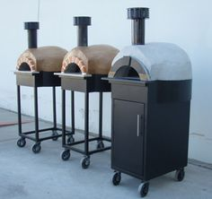 Assembled Pizza Ovens | Pizza Ovens | Italian Brick Ovens. Wheel these portable ovens around!