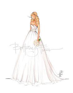 custom bridal illustration [ brittanyfuson.blogspot.com ]