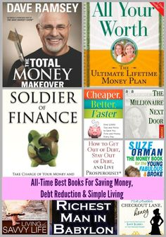 Here is a list of the best books from Amazon and GoodReads about saving money, investing, debt reduction, and simple living via KansasCityMamas.com