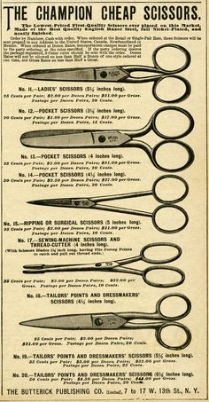 The Champion Cheap Scissors - The Butterick Publishing Co.