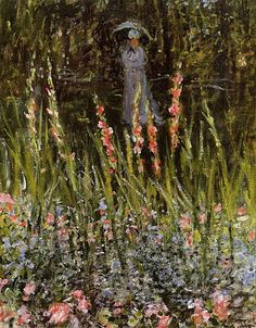The Garden Gladioli, Claude Monet.