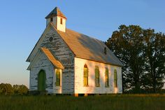 Lovely old country church- all it needs is a fresh coat of paint and it would be perf for a wedding!