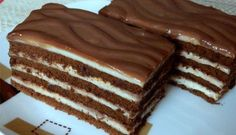 This cake melts in your mouth! Milk cubes cake, fast è - English Desserts, Sweet Desserts, Sweet Recipes, Delicious Desserts, Cookie Recipes, Dessert Recipes, Torte Cake, Hungarian Recipes, Cacao
