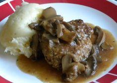 Crockpot Salisbury Steak ( a little skillet time)
