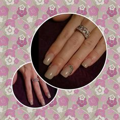 Bluesky Nude nails with diamante details
