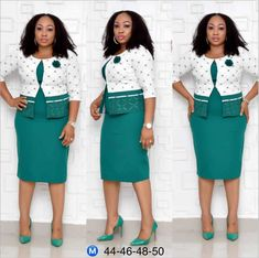 2019 hot sales women's Plus size African office lady bandage dress 98073 Color:Pink,Green Work Dresses For Women, African Dresses For Women, Suits For Women, Clothes For Women, African Clothes, Sexy Outfits, Fashion Outfits, Dress Outfits, Womens Dress Suits