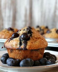 Healthy Banana- Blueberry Muffins #recipe