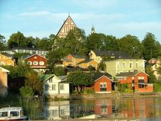 Porvoo Baltic Sea, Oh The Places You'll Go, Old Town, Wooden Houses, Mansions, Country, House Styles, Photography, Travel