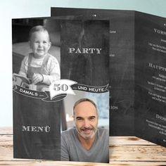 Geburtstagseinladungen Jahrestafel 50 Detail