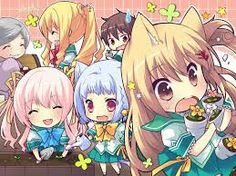 Adorable chibi group picture with neko-chan in the front! Lol I this picture! Kawaii Neko Girl, Chibi Girl, Kawaii Chibi, Cute Anime Girl Wallpaper, Chibi Wallpaper, Cute Anime Chibi, Anime Neko, Anime Backgrounds Wallpapers, Anime Girl Hot