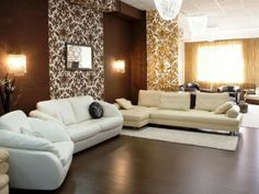 Contemporary Design Ideas - Living Room Design Ideas I think l Will do this with boards and wallpaper.