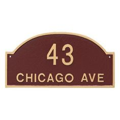 Montague Metal Products Dover Arch Two Line Standard Address Plaque Finish: Hunter Green / Silver