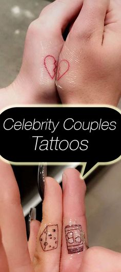 A list of celebrity couples who've gotten matching tattoos in the name of love. Click up to see all 11 pairs.