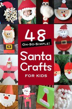 48 Simple Santa Crafts for Kids to Make
