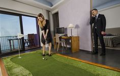 Golf In nella suit del tuo Hotel  #golfin  #greemakers #hotelsantateclapalace #hotel #acireale #sicily #golf