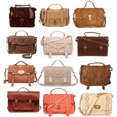 Fall Colored Suede and Leather Satchels #fall