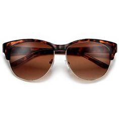d30dd0200ca Retro Fab Cat Eye Silhouette Half Frame Sunglasses – Sunglass Spot