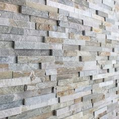 Oyster Maxi Split Face Slate Tiles - Oyster split face panels offer the same beautifully earthy tones and varied surface texture as the oyster slate floor tiles but with the added benefit of being an easy to install, & shaped cladding panel. Wall Cladding Tiles, Exterior Wall Cladding, Cladding Panels, Exterior Wall Tiles, Cladding Ideas, Grey Brick, Brick And Stone, Stone Feature Wall, Stone Store