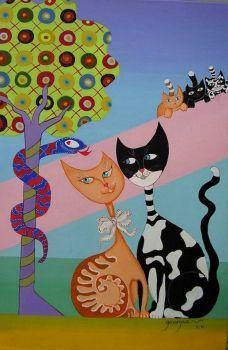 Cat's theme (96 pieces)