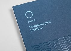 Logo and print with UV varnish detail designed by Neue for the Norwegian Meteorological Institute - Meteorologisk Institutt