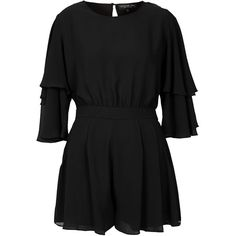 TOPSHOP Tall Double Sleeve Playsuit ($92) ❤ liked on Polyvore