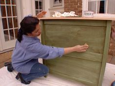 How To Antique A Cabinet