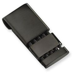 Brilliant Bijou stainless-steel Polished Black IP-plated Money Clip