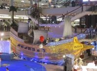 largest ship made of styrofoam wolrd record set by Red Sea Mall