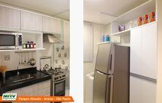 Apartamento decorado 2 quartos do Parque Attualle no bairro Jardim Santa Catarina - Araras - SP - MRV Engenharia - MRV Engenharia - Cozinha