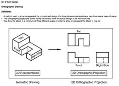 Orthographic Projection, Orthographic Drawing, Three Dimensional, Screen Shot, Definitions, Concept, Drawings, Paper, Design