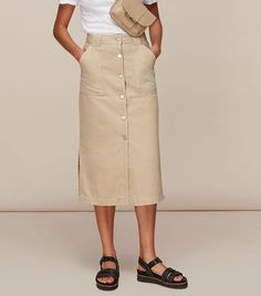 Whistles Utility Denim Skirt