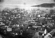 View of San Francisco harbor. It was taken in 1850