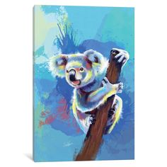 Koala Bear Mini Art Print by floartstudio : Koala Bear Mini Art Print by Flo Art Studio - Without Stand - x Canvas Artwork, Canvas Prints, Art Prints, Koala Tattoo, Bear Drawing, Australian Animals, Bear Art, Pop Art, Animal Paintings
