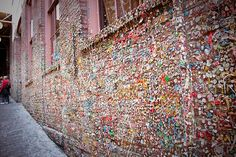 totally gross, and yet still too intrigueing to pass by and not stop (lol) seattle gum wall...